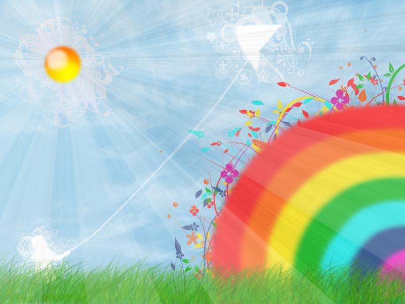 Sunny day wallpaper by naruto rendan sfondi desktop for Sfondi per desktop colorati
